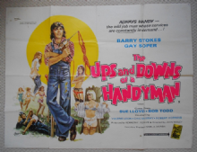 Ups and Downs of a Handyman, Original UK Quad Poster, Barry Stokes, Sue Lloyd, '76